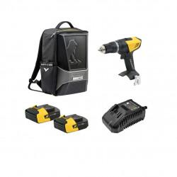 Pack Perceuse PEUGEOT ENERGYDRILL-14V15 - 2 batteries 14.4V 1.5 Ah - 1 chargeur - sac à dos ORIGINS 250310-250300