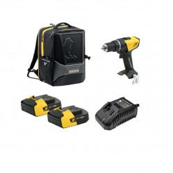 Pack Perceuse PEUGEOT ENERGYDRILL-18V20 - 2 batteries 18V 2.0 Ah - 1 chargeur - sac à dos PERFORMER 250312-250307
