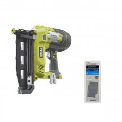 Pack cloueur à air comprimé RYOBI 18V OnePlus R18N16G-0 - recharge 2000 pointes PRECISEFIT 16G 64mm PWF2B16GN64 - sans batterie ni chargeur