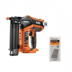 Pack cloueur de finition brushless AEG 18V B18N18-0 - recharge 2000 pointes PRECISEFIT 18G 32mm PWF518GN32 - sans batterie ni chargeur