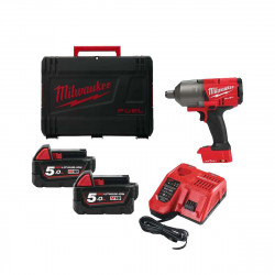 Boulonneuse à chocs MILWAUKEE FUEL One Key M18 ONEFHIWF34-502X - 2 batteries 18 V 5.0Ah - 1 chargeur M12-18FC 4933459730