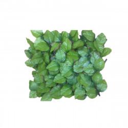 Rouleau haie artificielle JET7GARDEN 1x3m - vert tendre - feuilles de rosier