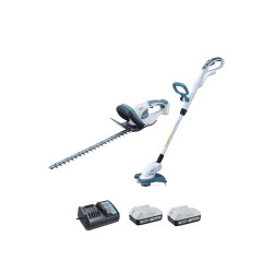 Ensemble de 2 machines MAKITA 18V DK18620X1 Taille-haie UH522D - coupe herbe UR180D