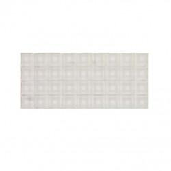 Plaque de 36 butées adhésives 3M transparentes SJ5323 2cm x 2cm H7,6mm