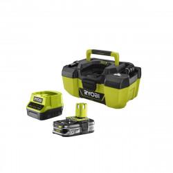 Pack aspirateur d'atelier RYOBI 18V One Plus R18PV-0 - 1 batterie 2.5Ah LithiumPlus - chargeur rapide 2.0Ah RC18120-125
