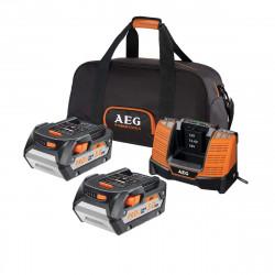 Chargeur rapide multi-plateformes AEG 18V Li-ion - 2 batterie 5.0Ah - SETLL1850BL