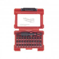 Coffret 32 pièces MILWAUKEE shockwave - porte embouts 4932464240