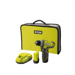 Perceuse-visseuse compacte RYOBI 12V Lithium-ion - 2 vitesses - 2 batteries 1.3 Ah R12DD-LL13S
