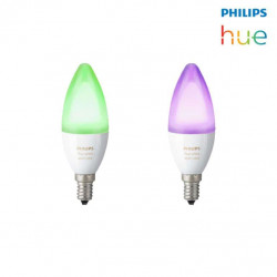 Ampoules connectées PHILIPS HUE E14 x 2 - Multicolore