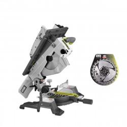 Pack RYOBI scie sur table et onglet électrique 1800W 254mm RTMS1800-G - lame carbure pour scies 254mm 24 dents SB254T24A1