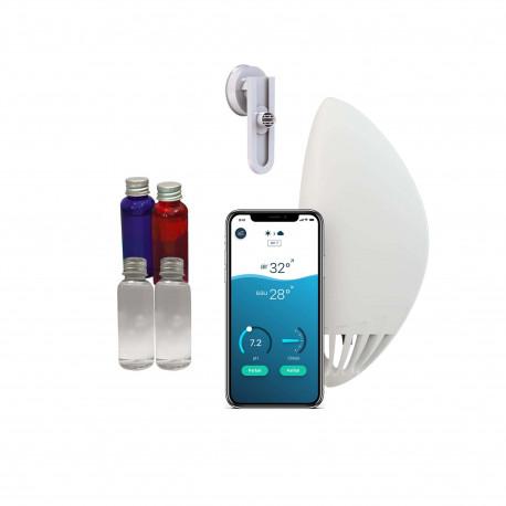 Pack FLIPR - Analyseur connecté Flipr Start - Kit d'hivernage - Kit de calibration - Fixation Fix'n Swim