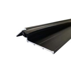 Seuil de porte 93 cm avec joint - anodisé noir