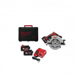 Scie circulaire MILWAUKEE FUEL M18 BLCS66-502X - 2 batteries 18V 5.0 Ah - 1 chargeur M12-18FC 4933464590