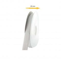 Bande adhésive auto-agrippante crochet 25mm x 25m - blanc