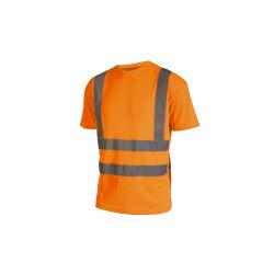 T-shirt haute visibilité - Manches courtes - Orange fluo - S
