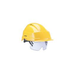 Casque avec lunettes de protection AUBOUIEX - jaune