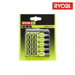 21 accessoires de vissage RYOBI avec racks de rangement RAK21MSD