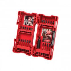 Coffret 24 pièces MILWAUKEE shockwave - porte embouts 4932464169