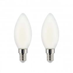 Ampoule LED Filament XXCELL Flamme Dépolie - E14 équivalent 40W x2