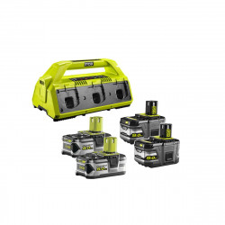 Pack NRJ RYOBI 18V - 1 chargeur 6 ports Lithium-ion RC18-627 - 2 batteries 5,0 Ah RB18L50 - 2 batteries 9,0 Ah High Energy RB18L90