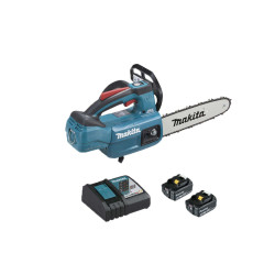 Tronçonneuse d'élagage brushless MAKITA 18V - 2 batteries 5.0Ah - 1 chargeur rapide DC18RC DUC254RT2