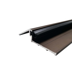 Seuil de porte d'entrée 93 cm avec joint - bronze