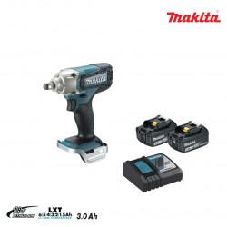 Boulonneuse à chocs MAKITA 18V - 2 batteries BL1830 3.0Ah - 1 chargeur rapide DC18RC DTW190RFE