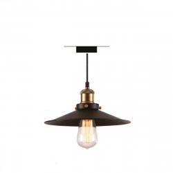 Luminaire à suspendre en métal noir avec ampoule rétro LED Filament XXCELL - E27