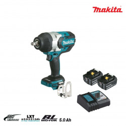 Boulonneuse à chocs brushless MAKITA 18V - 2 batteries BL1850B 5.0Ah - 1 chargeur rapide DC18RC DTW1002RTJ