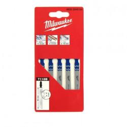 Pack de 5 lames scie sauteuse MILWAUKEE métal 55 mm denture de 2 mm 4932254064
