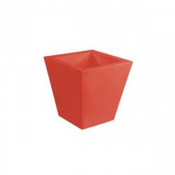 Pot VONDOM Modèle Cuadrado - Rouge mat - 40cm