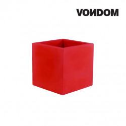 Pot VONDOM Modèle Cubo - Rouge mat - 40cm