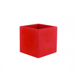 Pot VONDOM Modèle Cubo - Rouge mat - 50cm