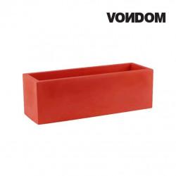 Pot VONDOM Modèle Jardinera - Rouge mat - 100cm