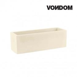 Pot VONDOM Modèle Jardinera - Ecru mat - 80cm