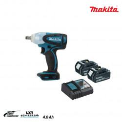 Boulonneuse à chocs MAKITA 18V - 2 batteries BL1840 4.0Ah - 1 chargeur rapide DC18RC DTW251RMJ