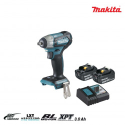 Boulonneuse à chocs brushless MAKITA 18V - 2 batteries BL1830B 3.0Ah - 1 chargeur rapide DC18RC DTW180RFJ