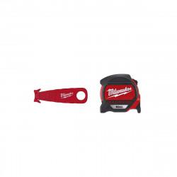 Pack MILWAUKEE Mètre ruban magnétique premium 10m - Cutter de sécurité