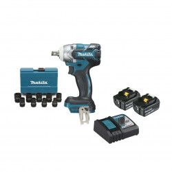 Boulonneuse à chocs brushless MAKITA 18V - 2 batteries BL1850B 5.0Ah - 1 chargeur rapide DC18RC - Kit DTW285RTJX