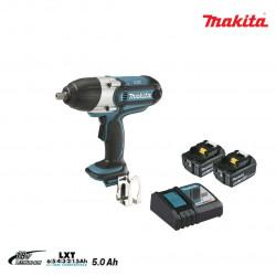 Boulonneuse à chocs MAKITA 18V - 2 batteries BL1850B 5.0Ah - 1 chargeur rapide DC18RC DTW450RTJ