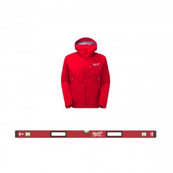 Pack MILWAUKEE Niveau tubulaire RedStick 120cm magnétique Premium - veste rouge taille XL