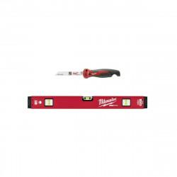 Pack MILWAUKEE Niveau tubulaire RedStick 60cm magnétique Premium - Scie pliante