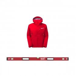 Pack MILWAUKEE Niveau tubulaire RedStick 120cm magnétique Premium - veste rouge taille L