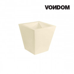 Pot VONDOM Modèle Cuadrado - Ecru mat - 50cm