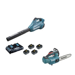 Souffleur MAKITA 36V – 4 batteries 5.0Ah BL1850B – 1 chargeur rapide DC18RD DUB362PT4