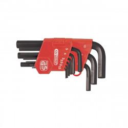 Jeu de clés KS TOOLS Classic - Courtes - 9 pcs - 151.3211
