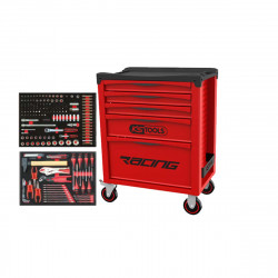 Servante KS TOOLS Racing - Equipée 184 outils- Rouge - 5 tiroirs - 855.5184