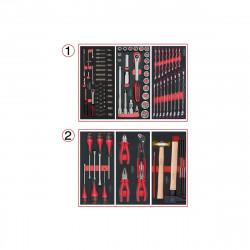 Composition d'outils KS TOOLS - Pour servante - 2 tiroirs - 114 pcs - 714.0114