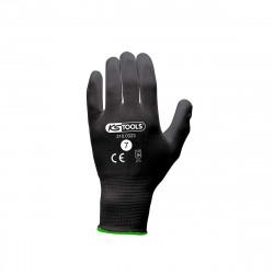 Boîte de 12 paires de gants KS TOOLS - Microfibres - Noir - Taille S - 310.0323