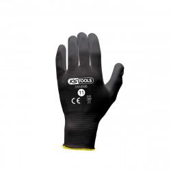 Boîte de 12 paires de gants KS TOOLS - Microfibres - Noir - Taille XXL - 310.0335